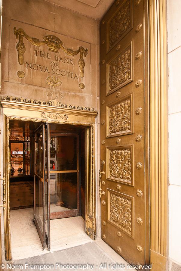 Exterior bronze door