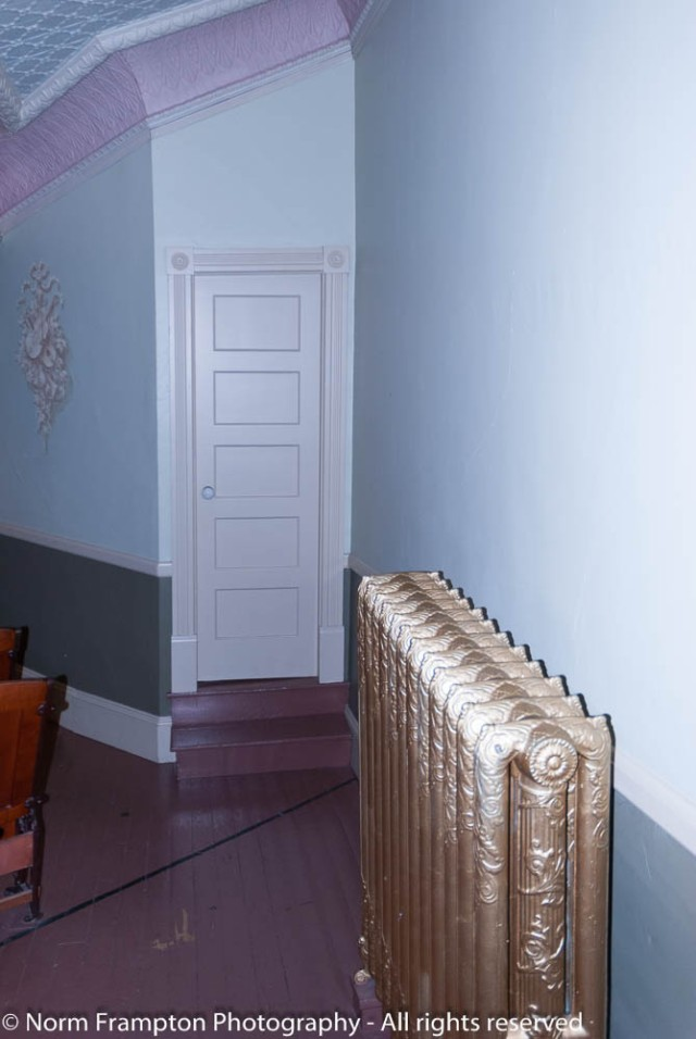 Theatre side exit door and oh that radiator!
